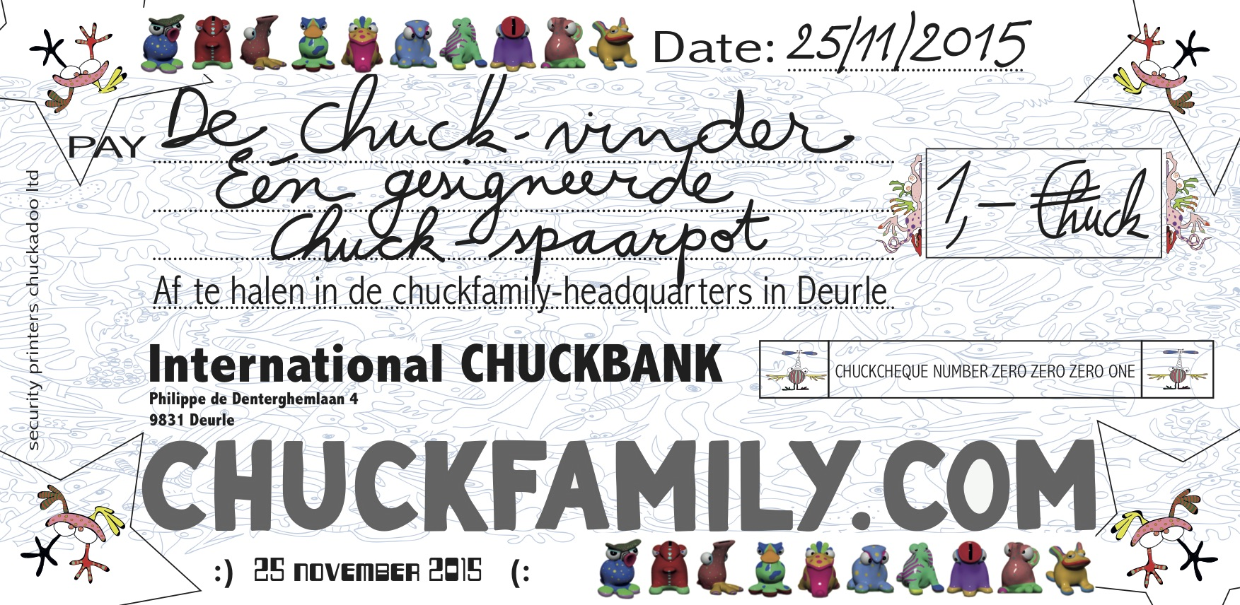 CHUCKFAMILY cheque
